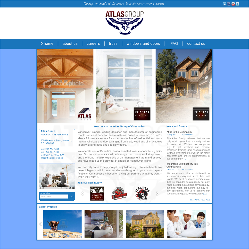 Web Page Design by Alpar David - Entry No. 81 in the Web Page Design Contest The Atlas Group Website.