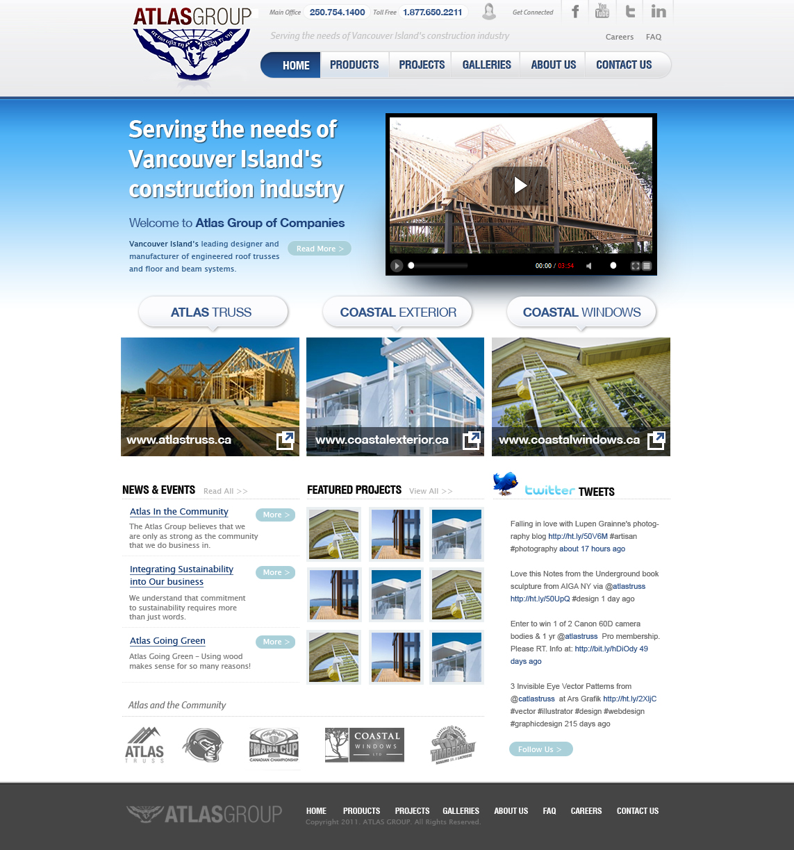 Web Page Design by red46 - Entry No. 83 in the Web Page Design Contest The Atlas Group Website.