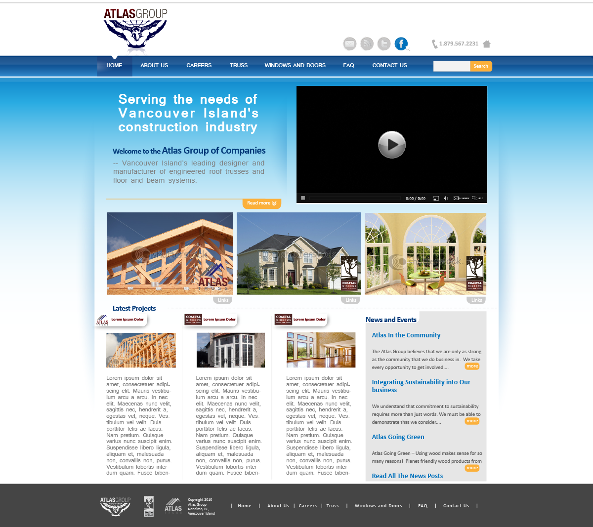 Web Page Design by zesthar - Entry No. 90 in the Web Page Design Contest The Atlas Group Website.