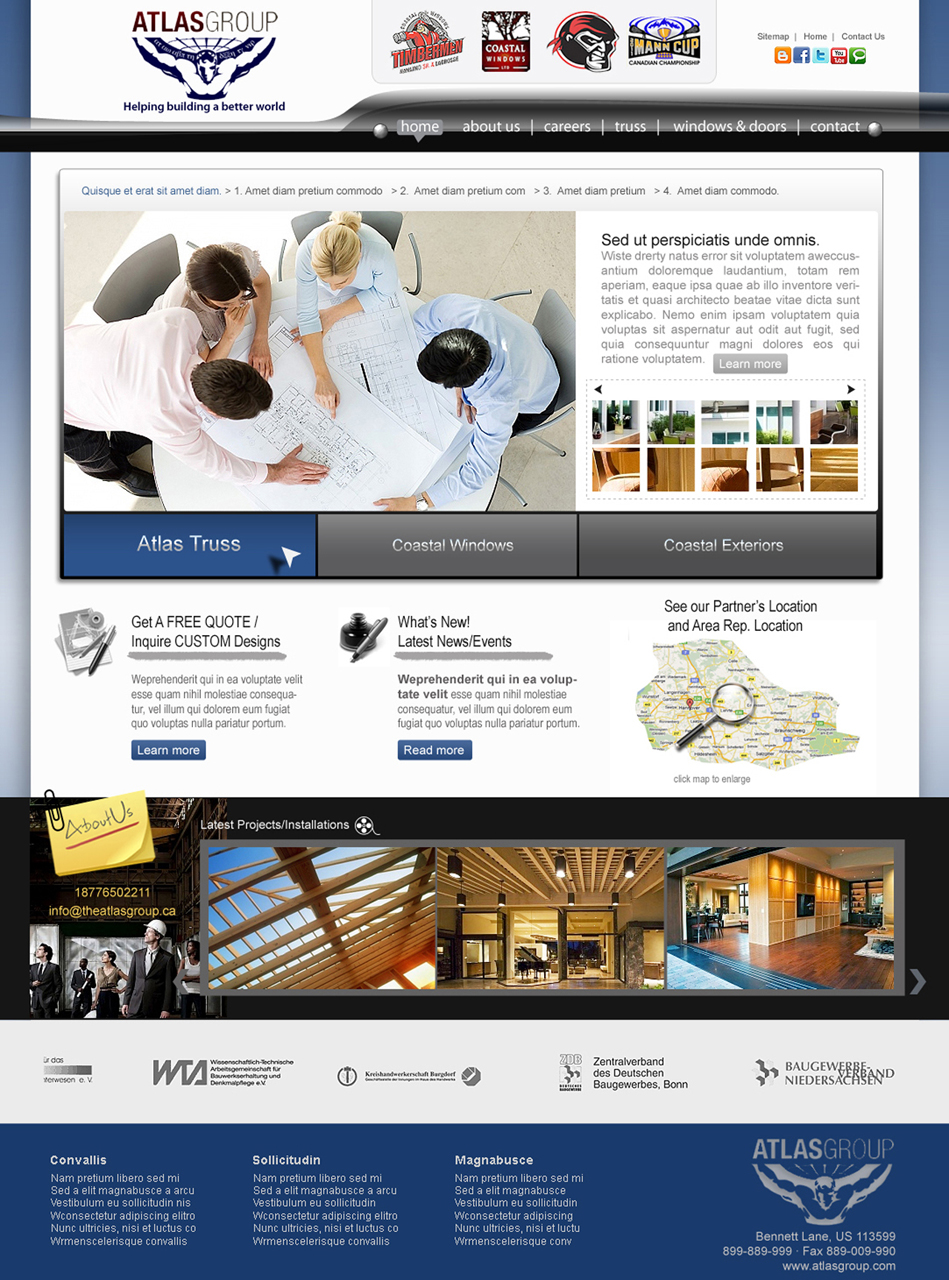 Web Page Design by Private User - Entry No. 92 in the Web Page Design Contest The Atlas Group Website.
