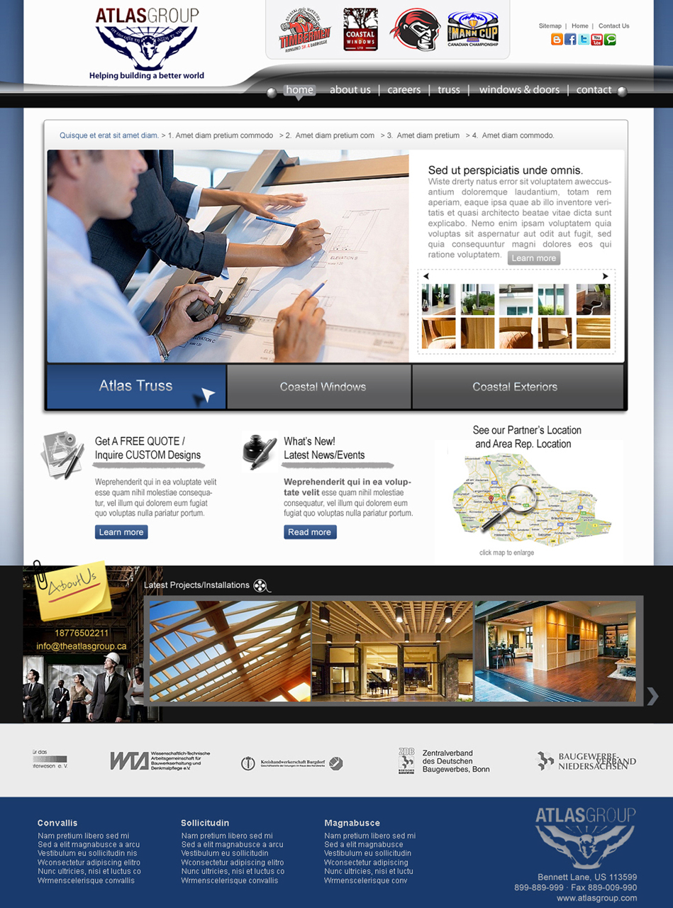 Web Page Design by Private User - Entry No. 93 in the Web Page Design Contest The Atlas Group Website.