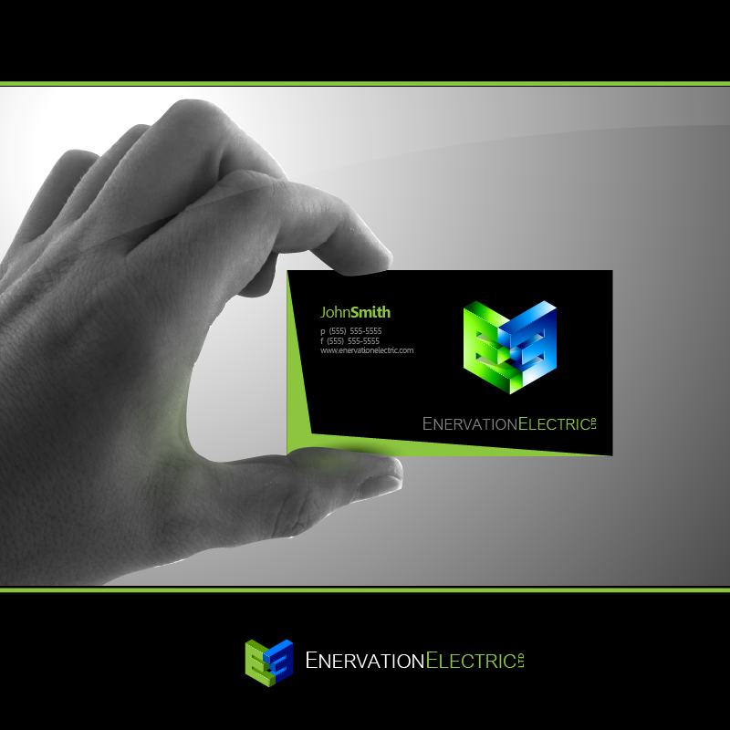 business card design contests a enervation logo design a design no