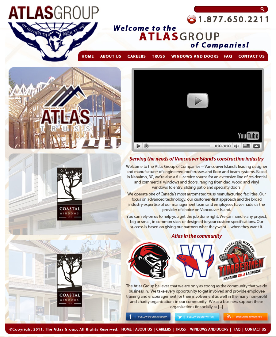 Web Page Design by hmdesigns - Entry No. 95 in the Web Page Design Contest The Atlas Group Website.