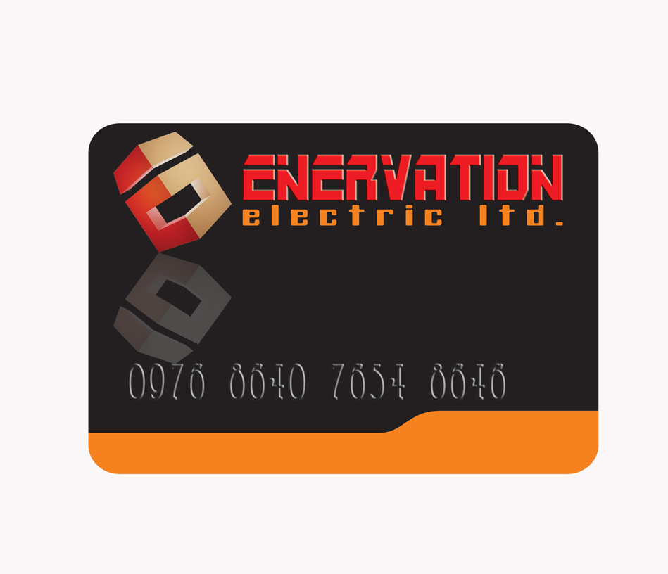 Business Card Design by jais - Entry No. 118 in the Business Card Design Contest Enervation Logo Design.