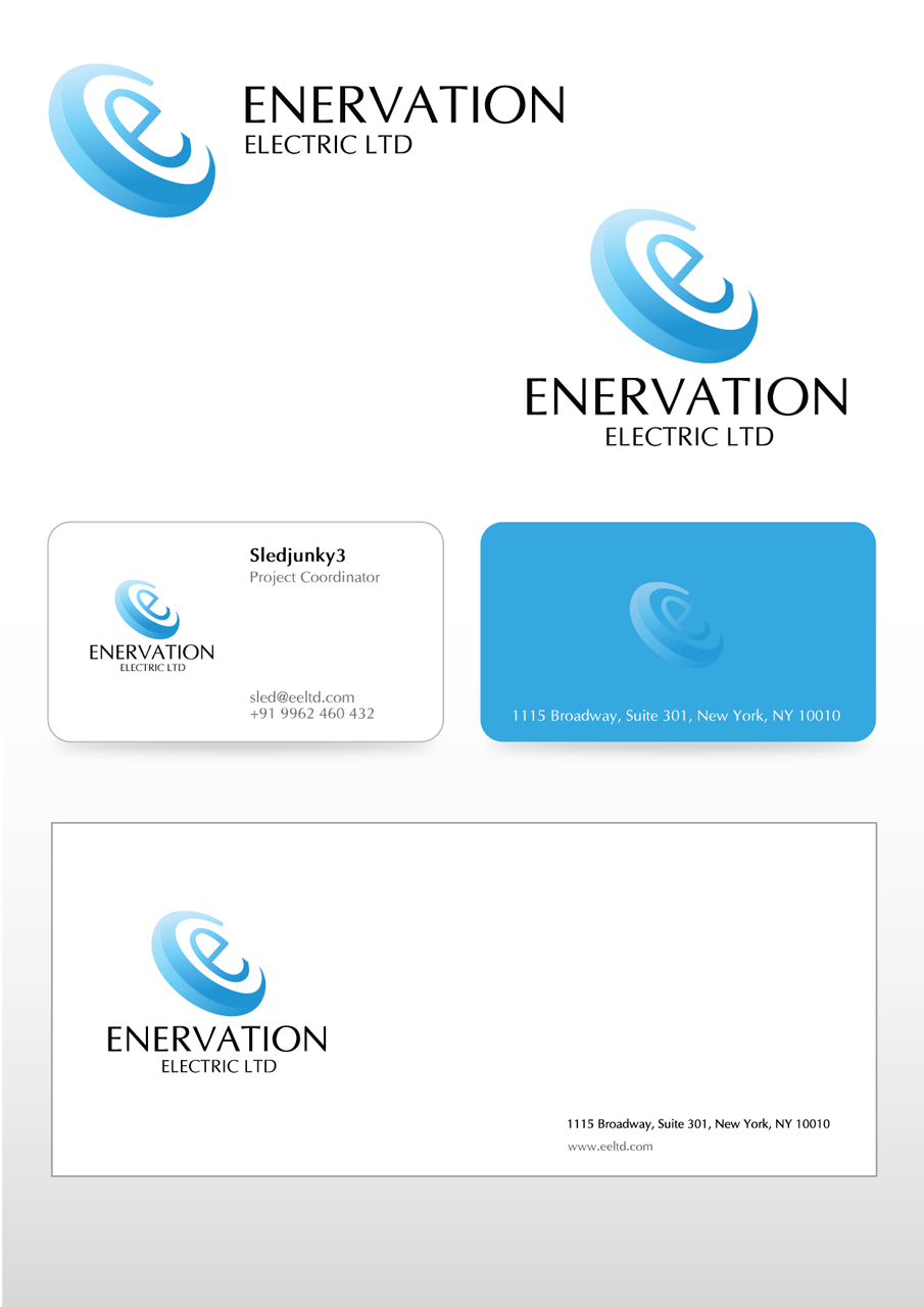 Business Card Design by Mithra  Ravindran - Entry No. 121 in the Business Card Design Contest Enervation Logo Design.