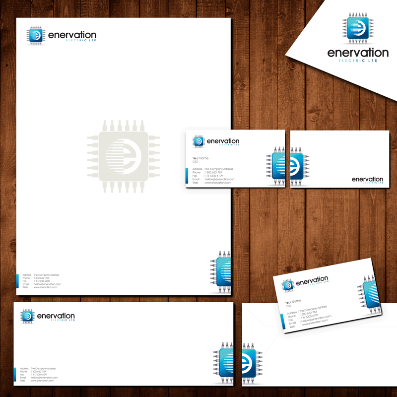Business Card Design by Private User - Entry No. 124 in the Business Card Design Contest Enervation Logo Design.