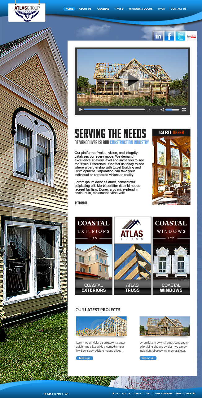 Web Page Design by Farhan Zafar - Entry No. 96 in the Web Page Design Contest The Atlas Group Website.