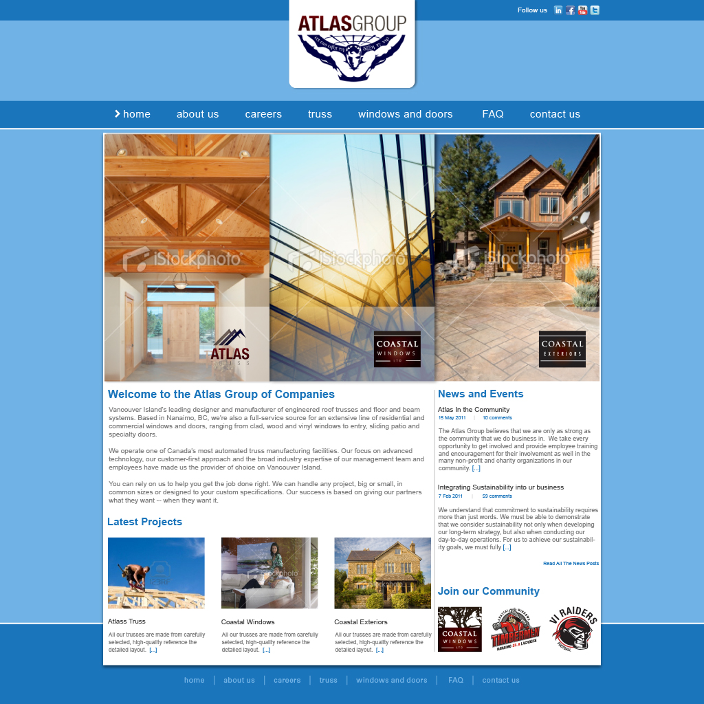 Web Page Design by Alpar David - Entry No. 97 in the Web Page Design Contest The Atlas Group Website.