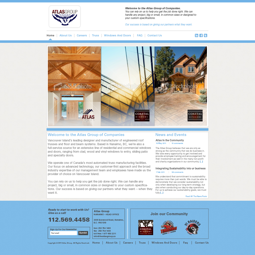 Web Page Design by Alpar David - Entry No. 98 in the Web Page Design Contest The Atlas Group Website.