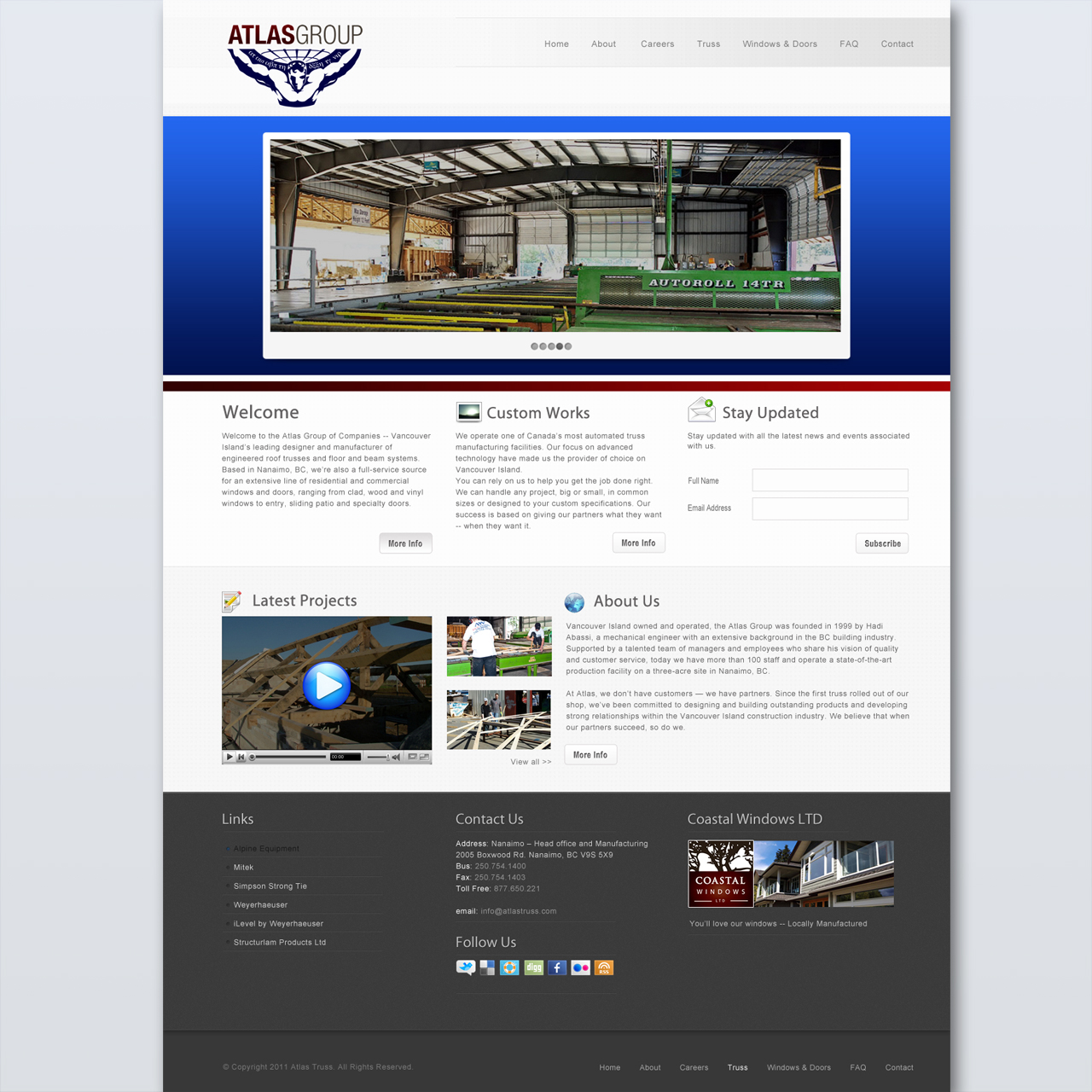 Web Page Design by SilverEagle - Entry No. 104 in the Web Page Design Contest The Atlas Group Website.