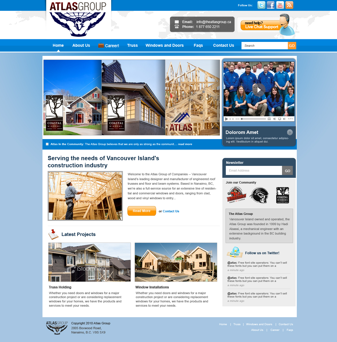 Web Page Design by rockpinoy - Entry No. 105 in the Web Page Design Contest The Atlas Group Website.
