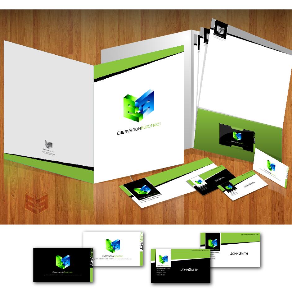 Business Card Design by zesthar - Entry No. 144 in the Business Card Design Contest Enervation Logo Design.