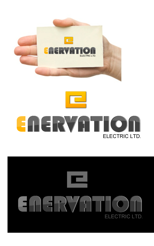 Business Card Design by Reynald Releigh - Entry No. 158 in the Business Card Design Contest Enervation Logo Design.