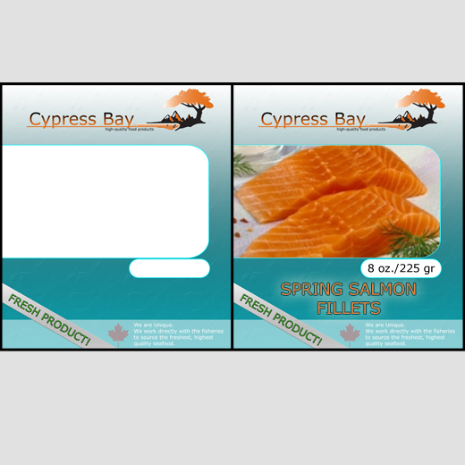 Packaging Design by alexrogozea - Entry No. 6 in the Packaging Design Contest Frozen Seafood Package Label Template.