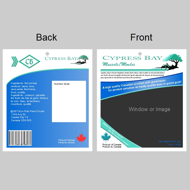 Frozen Seafood Package Label Template – Package Label Template