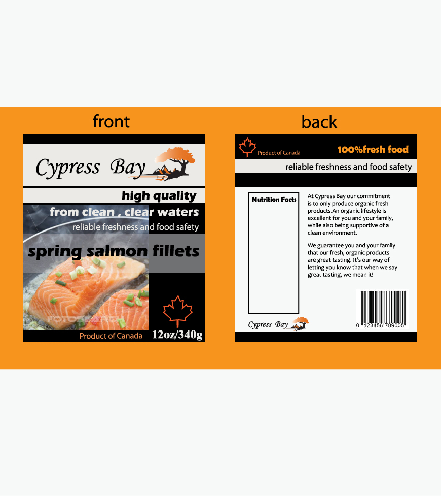 Packaging Design Contests Frozen Seafood Package Label Template – Package Label Template
