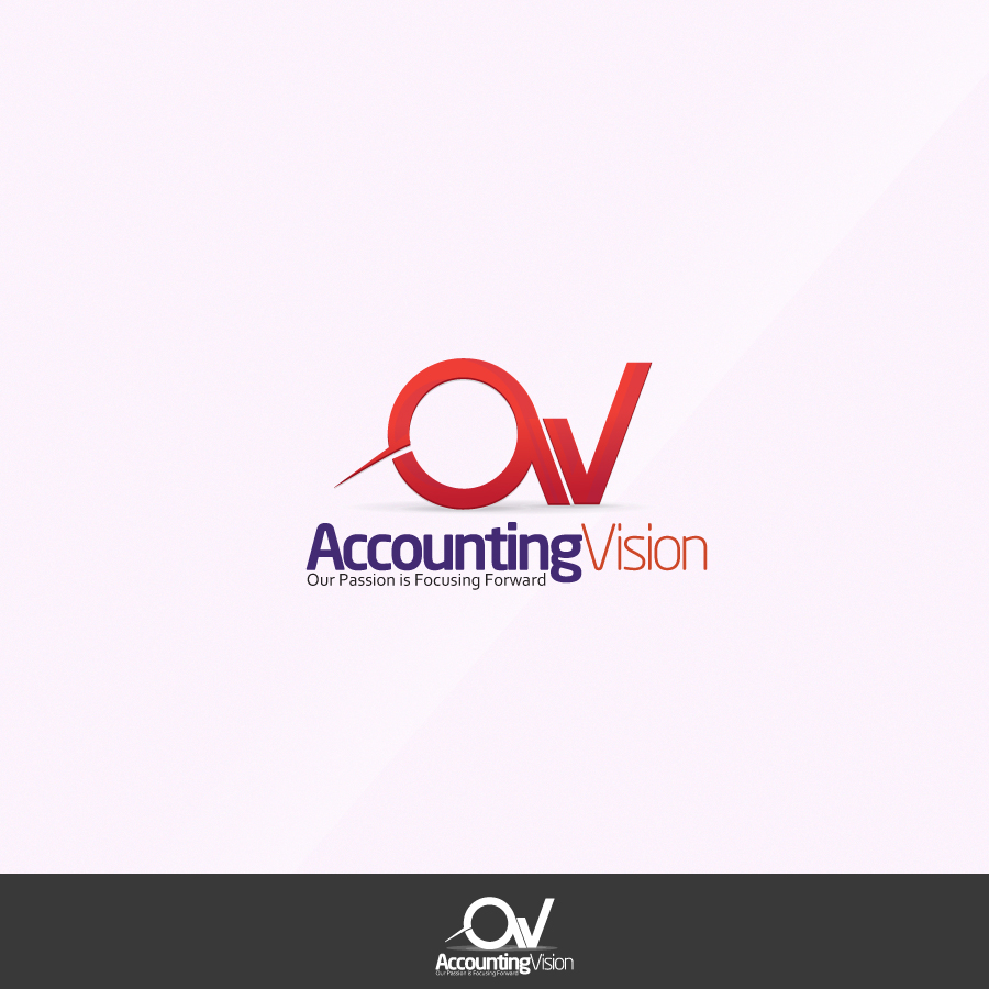 Logo Design by rockpinoy - Entry No. 42 in the Logo Design Contest Accounting Visions.