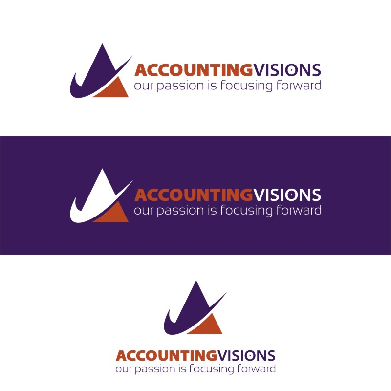 Logo Design by Private User - Entry No. 56 in the Logo Design Contest Accounting Visions.