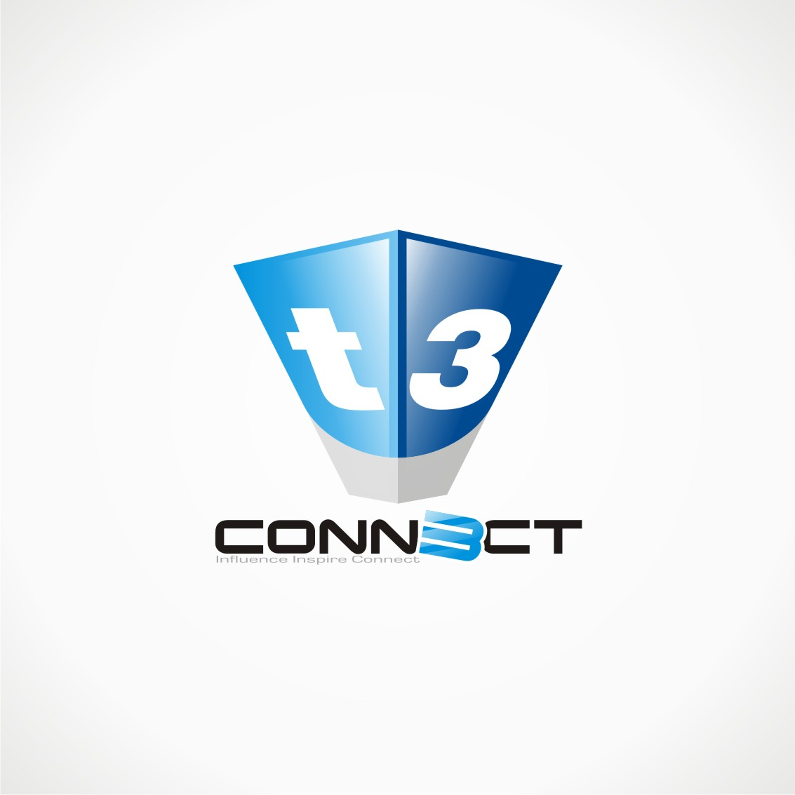 Logo Design by chandezin - Entry No. 19 in the Logo Design Contest T3 CONNECT Sports Marketing logo.