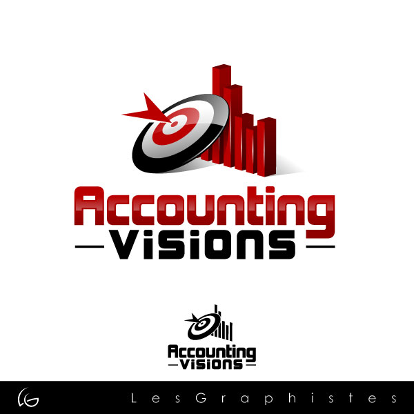 Logo Design by Les-Graphistes - Entry No. 74 in the Logo Design Contest Accounting Visions.