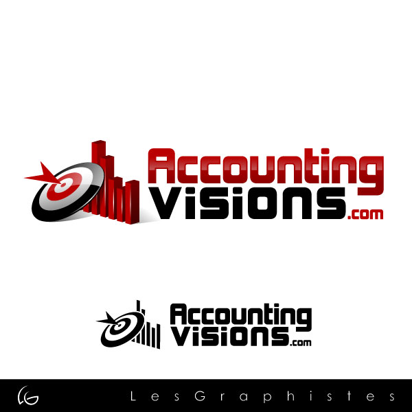 Logo Design by Les-Graphistes - Entry No. 75 in the Logo Design Contest Accounting Visions.