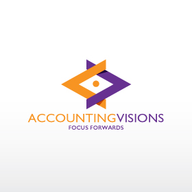 Logo Design by deux - Entry No. 90 in the Logo Design Contest Accounting Visions.