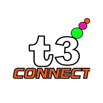 Logo Design by rythmx - Entry No. 31 in the Logo Design Contest T3 CONNECT Sports Marketing logo.