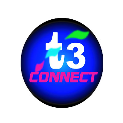 Logo Design by rythmx - Entry No. 32 in the Logo Design Contest T3 CONNECT Sports Marketing logo.