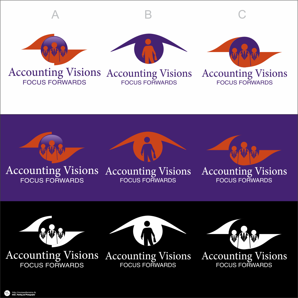 Logo Design by moisesf - Entry No. 101 in the Logo Design Contest Accounting Visions.