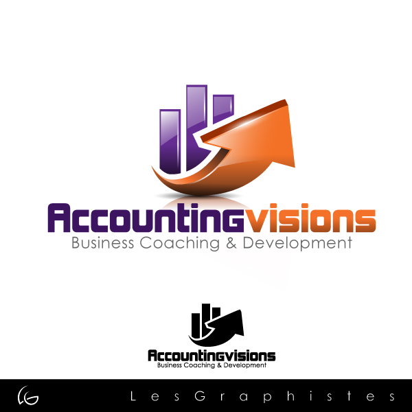 Logo Design by Les-Graphistes - Entry No. 126 in the Logo Design Contest Accounting Visions.