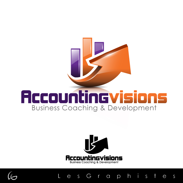 Logo Design by Les-Graphistes - Entry No. 127 in the Logo Design Contest Accounting Visions.