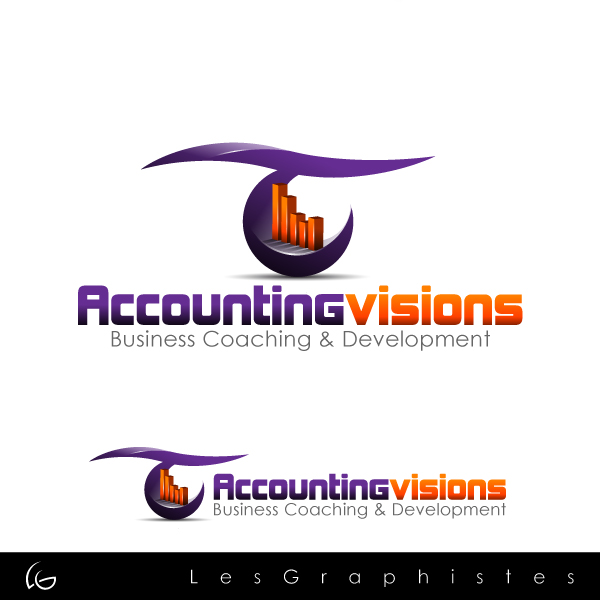 Logo Design by Les-Graphistes - Entry No. 128 in the Logo Design Contest Accounting Visions.