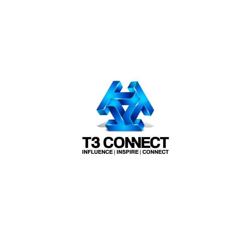 Logo Design by Emi Constantin - Entry No. 42 in the Logo Design Contest T3 CONNECT Sports Marketing logo.