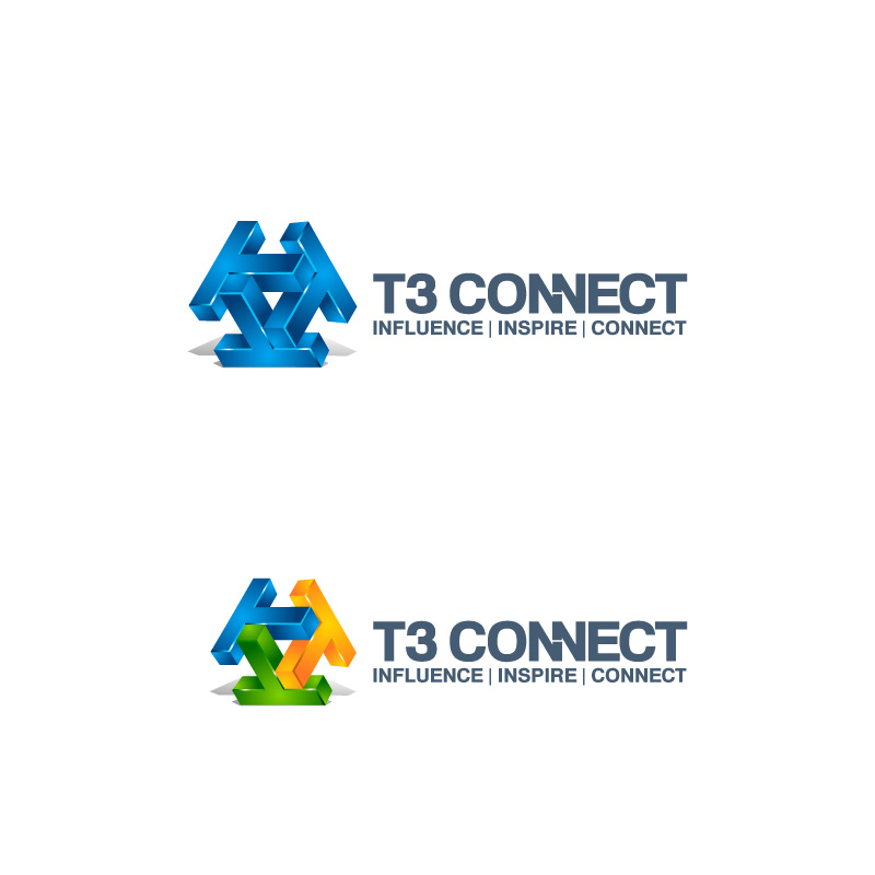 Logo Design by Emi Constantin - Entry No. 47 in the Logo Design Contest T3 CONNECT Sports Marketing logo.