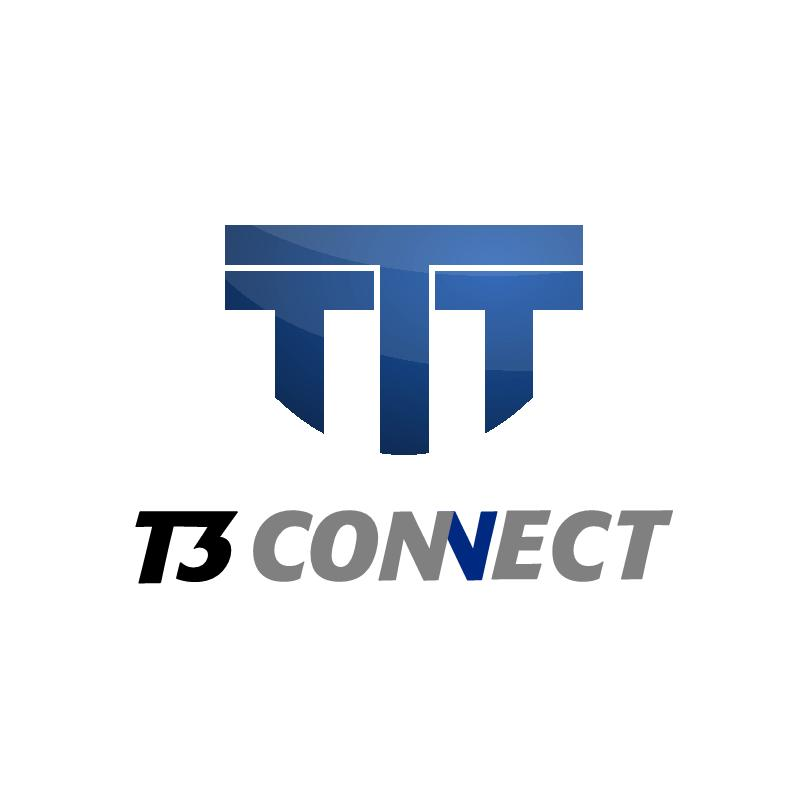 Logo Design by aresforever78 - Entry No. 49 in the Logo Design Contest T3 CONNECT Sports Marketing logo.