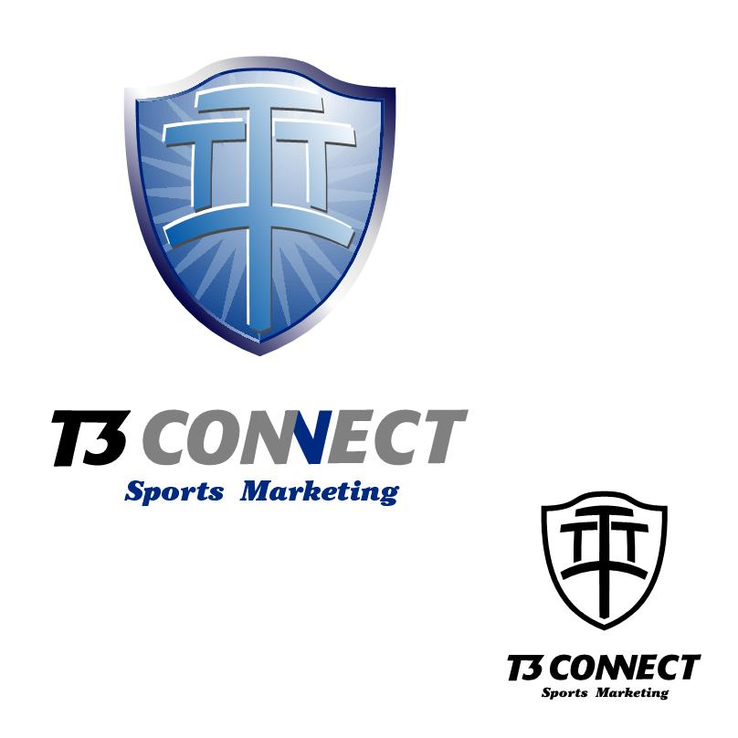 Logo Design by aresforever78 - Entry No. 52 in the Logo Design Contest T3 CONNECT Sports Marketing logo.