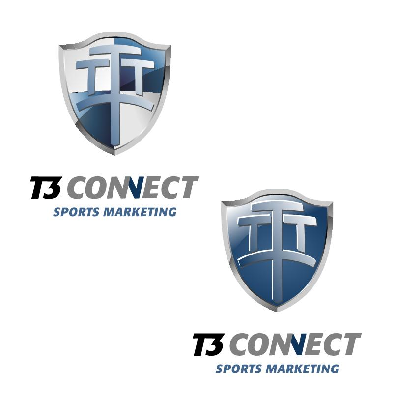 Logo Design by luvrenz - Entry No. 60 in the Logo Design Contest T3 CONNECT Sports Marketing logo.