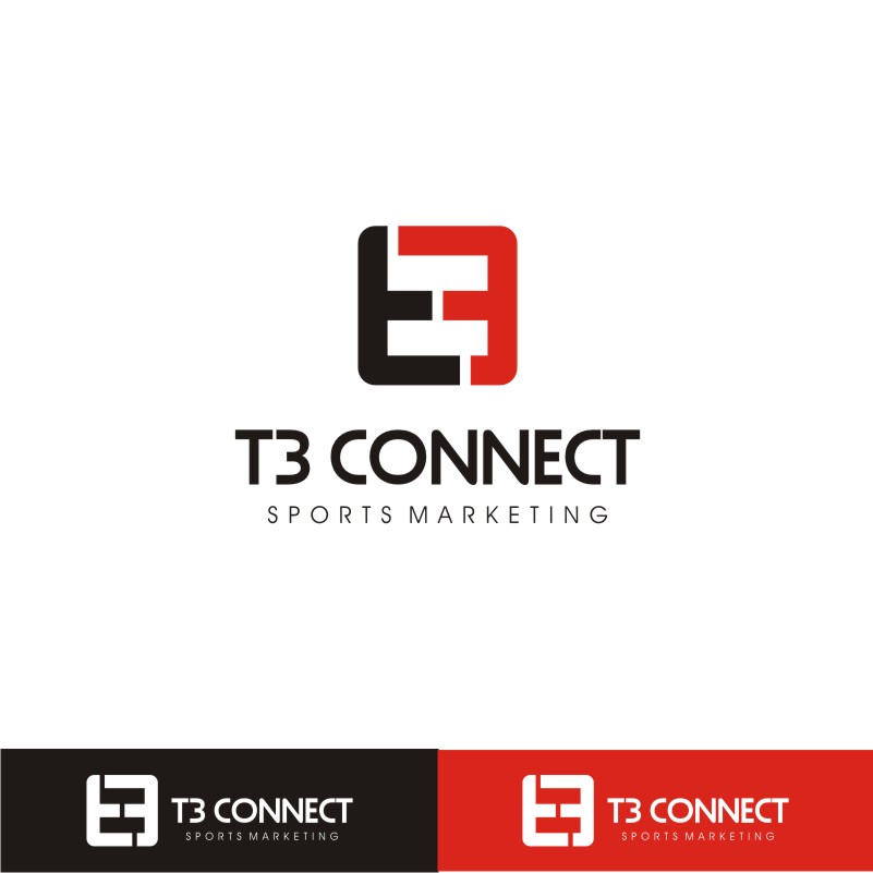 Logo Design by Private User - Entry No. 66 in the Logo Design Contest T3 CONNECT Sports Marketing logo.
