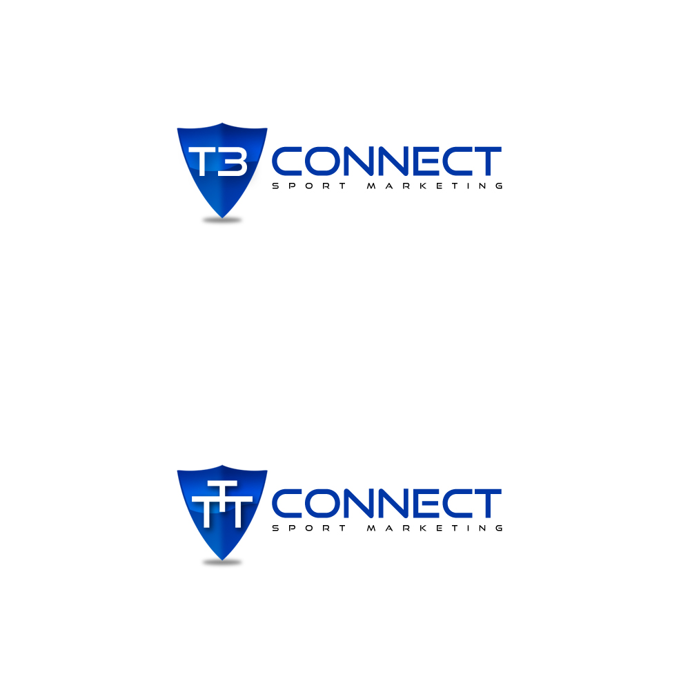 Logo Design by Cinr - Entry No. 67 in the Logo Design Contest T3 CONNECT Sports Marketing logo.