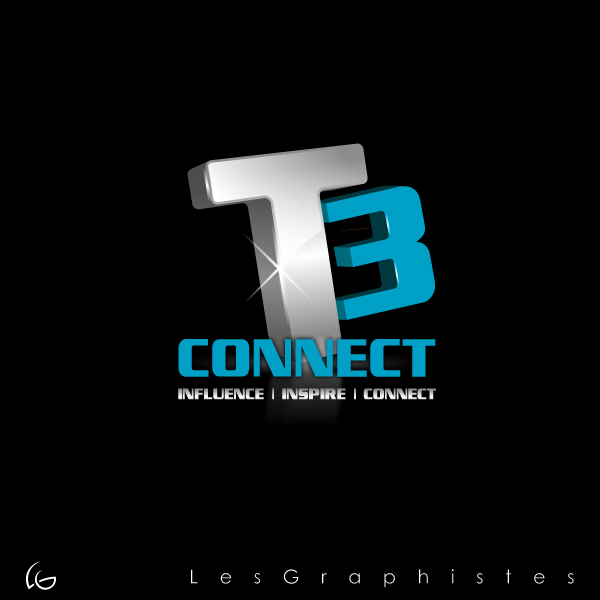 Logo Design by Les-Graphistes - Entry No. 73 in the Logo Design Contest T3 CONNECT Sports Marketing logo.