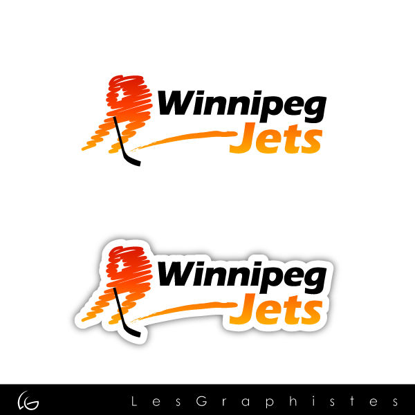 Logo Design by Les-Graphistes - Entry No. 38 in the Logo Design Contest Winnipeg Jets Logo Design Contest.