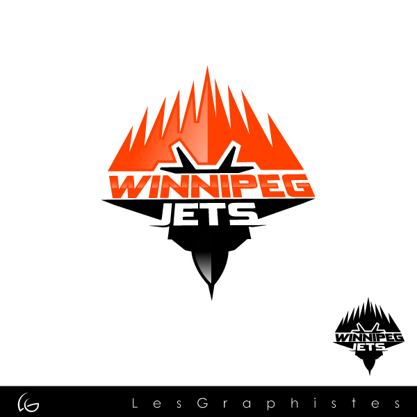 Logo Design by Les-Graphistes - Entry No. 65 in the Logo Design Contest Winnipeg Jets Logo Design Contest.