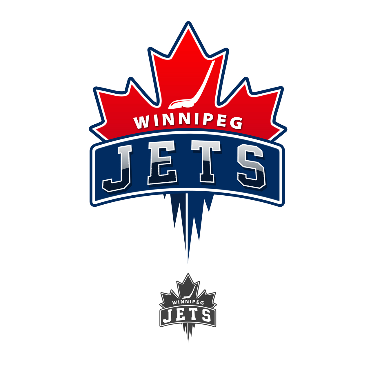 Logo Design by carell - Entry No. 80 in the Logo Design Contest Winnipeg Jets Logo Design Contest.