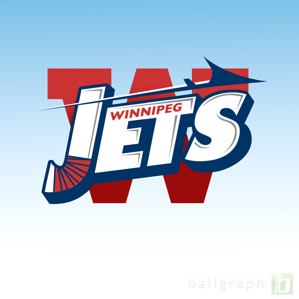 Logo Design by baligraph - Entry No. 83 in the Logo Design Contest Winnipeg Jets Logo Design Contest.