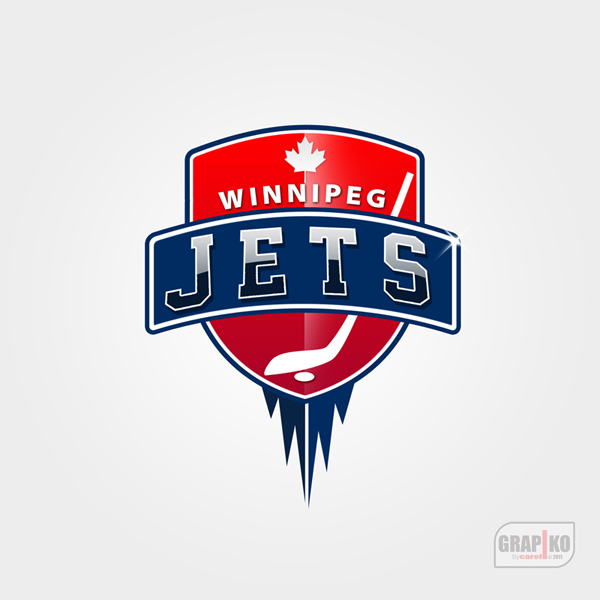 Logo Design by carell - Entry No. 92 in the Logo Design Contest Winnipeg Jets Logo Design Contest.