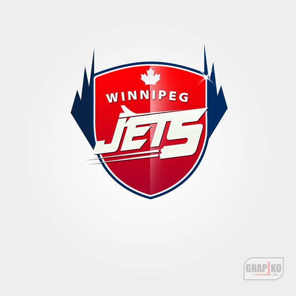 Logo Design by carell - Entry No. 97 in the Logo Design Contest Winnipeg Jets Logo Design Contest.