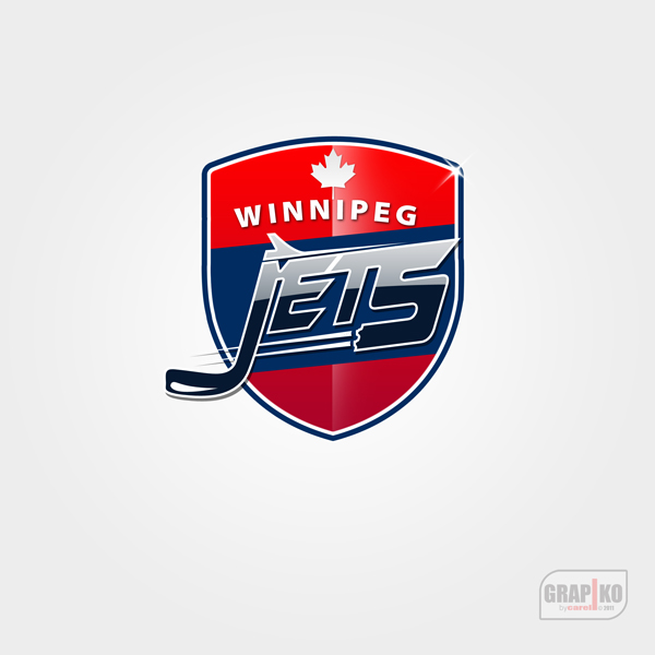 Logo Design by carell - Entry No. 105 in the Logo Design Contest Winnipeg Jets Logo Design Contest.