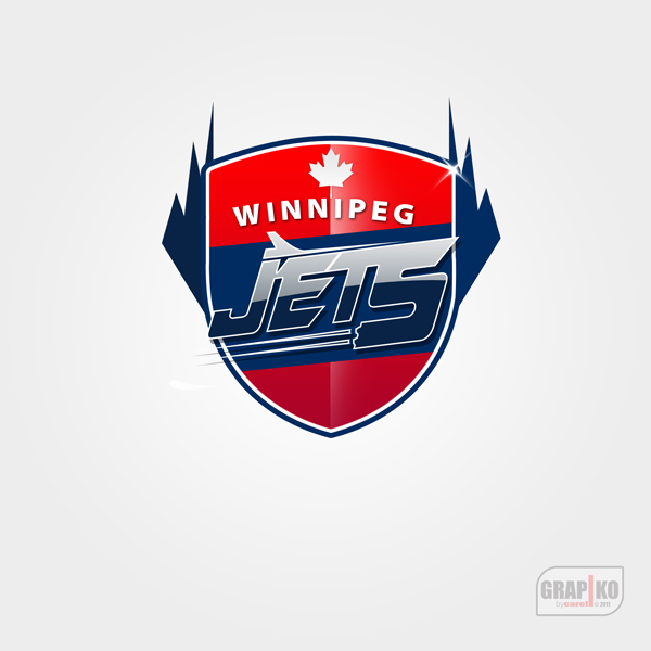 Logo Design by carell - Entry No. 107 in the Logo Design Contest Winnipeg Jets Logo Design Contest.