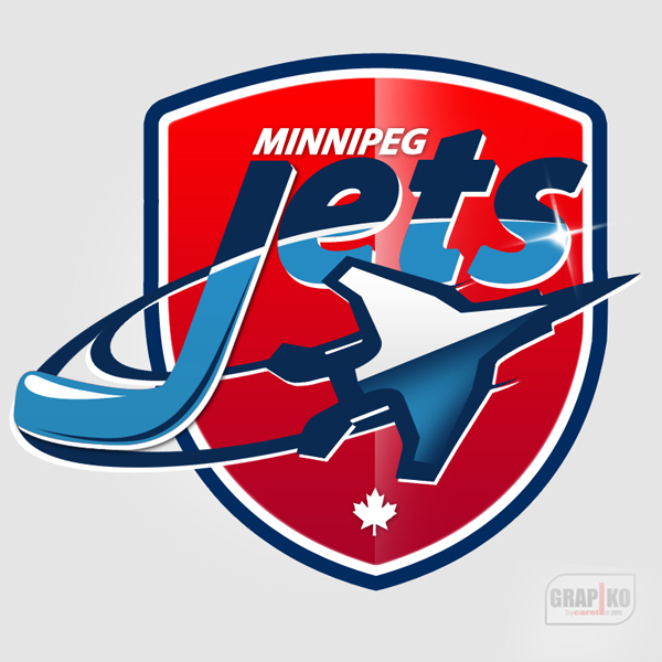 Logo Design by carell - Entry No. 109 in the Logo Design Contest Winnipeg Jets Logo Design Contest.