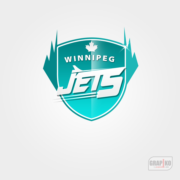Logo Design by carell - Entry No. 110 in the Logo Design Contest Winnipeg Jets Logo Design Contest.